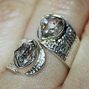 Украшения ручной работы. Ярмарка Мастеров - ручная работа Кольцо редкий Хёркимерский алмаз в серебре. Handmade.