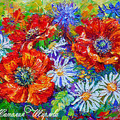 Картины и панно handmade. Livemaster - original item The picture poppies