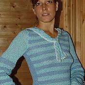 Одежда ручной работы. Ярмарка Мастеров - ручная работа Вязаный свитер Морское утро. Handmade.
