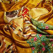 Аксессуары ручной работы. Ярмарка Мастеров - ручная работа Платок Поцелуй Г.Климта. Handmade.