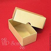 """Фурнитура для кукол и игрушек ручной работы. Ярмарка Мастеров - ручная работа Коробка """"крышка-дно"""" из крафт-картона 130х70х40 мм. Handmade."""