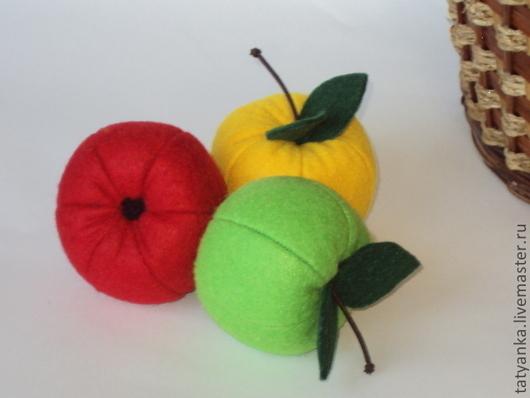 Еда ручной работы. Ярмарка Мастеров - ручная работа. Купить Райские яблочки из фетра.. Handmade. Яблоко, развивающая игрушка