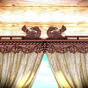 """Для дома и интерьера ручной работы. Ярмарка Мастеров - ручная работа Деревянный карниз для штор """"Амурский виноград"""". Handmade."""