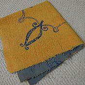 Материалы для творчества ручной работы. Ярмарка Мастеров - ручная работа Плюш винтажный с вышивкой  (ручной окрас) 40х40. Handmade.