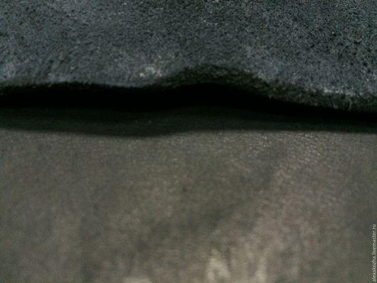 Шитье ручной работы. Ярмарка Мастеров - ручная работа. Купить Кожа натуральная Чепрак ременной черный. Handmade. Кожа, черная