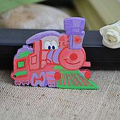 Украшения handmade. Livemaster - original item Brooch Locomotive. Handmade.