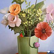 Картины и панно handmade. Livemaster - original item Poppies in a green vase. ( Vladimir Tarasov). Handmade.