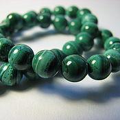 Материалы для творчества handmade. Livemaster - original item Natural malachite beads, African. Zaire, 6 mm light. Handmade.