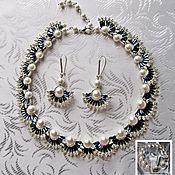 Украшения handmade. Livemaster - original item Jewelry set-Pearl wave-2 Necklace Earrings. Handmade.