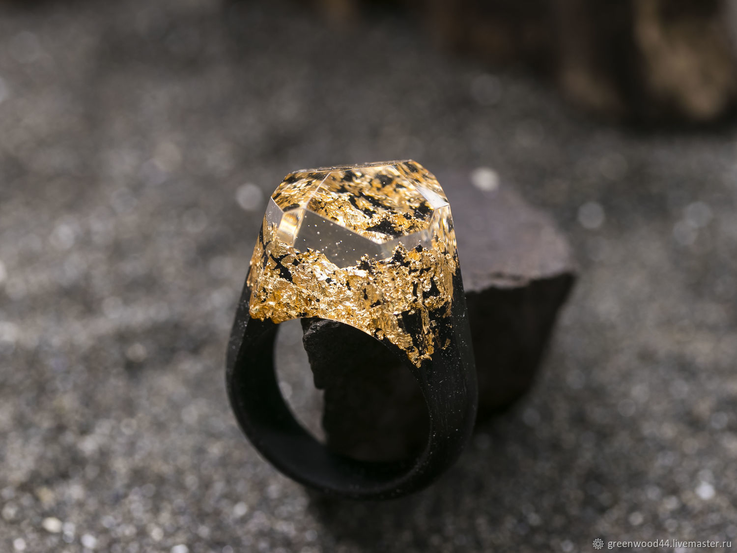 Wooden Ring ' Golden mountains', Rings, Kostroma,  Фото №1