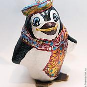 Подарки к праздникам ручной работы. Ярмарка Мастеров - ручная работа Пингвиненок. Елочные игрушки из папье-маше. Handmade.