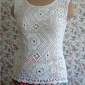 """Одежда ручной работы. Ярмарка Мастеров - ручная работа Топ """"Белые розы"""". Handmade."""