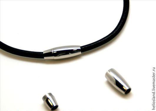 Для украшений ручной работы. Ярмарка Мастеров - ручная работа. Купить Магнитный замок  для круглых шнуров  5 мм. Handmade.