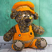 Куклы и игрушки handmade. Livemaster - original item knitted bear blue. Handmade.