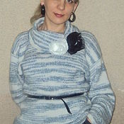 Одежда handmade. Livemaster - original item Sweater with large collar. Handmade.