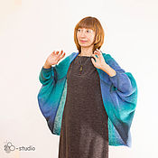 Одежда handmade. Livemaster - original item Knitted cardigan Riviera from County Wool Cape for women. Handmade.