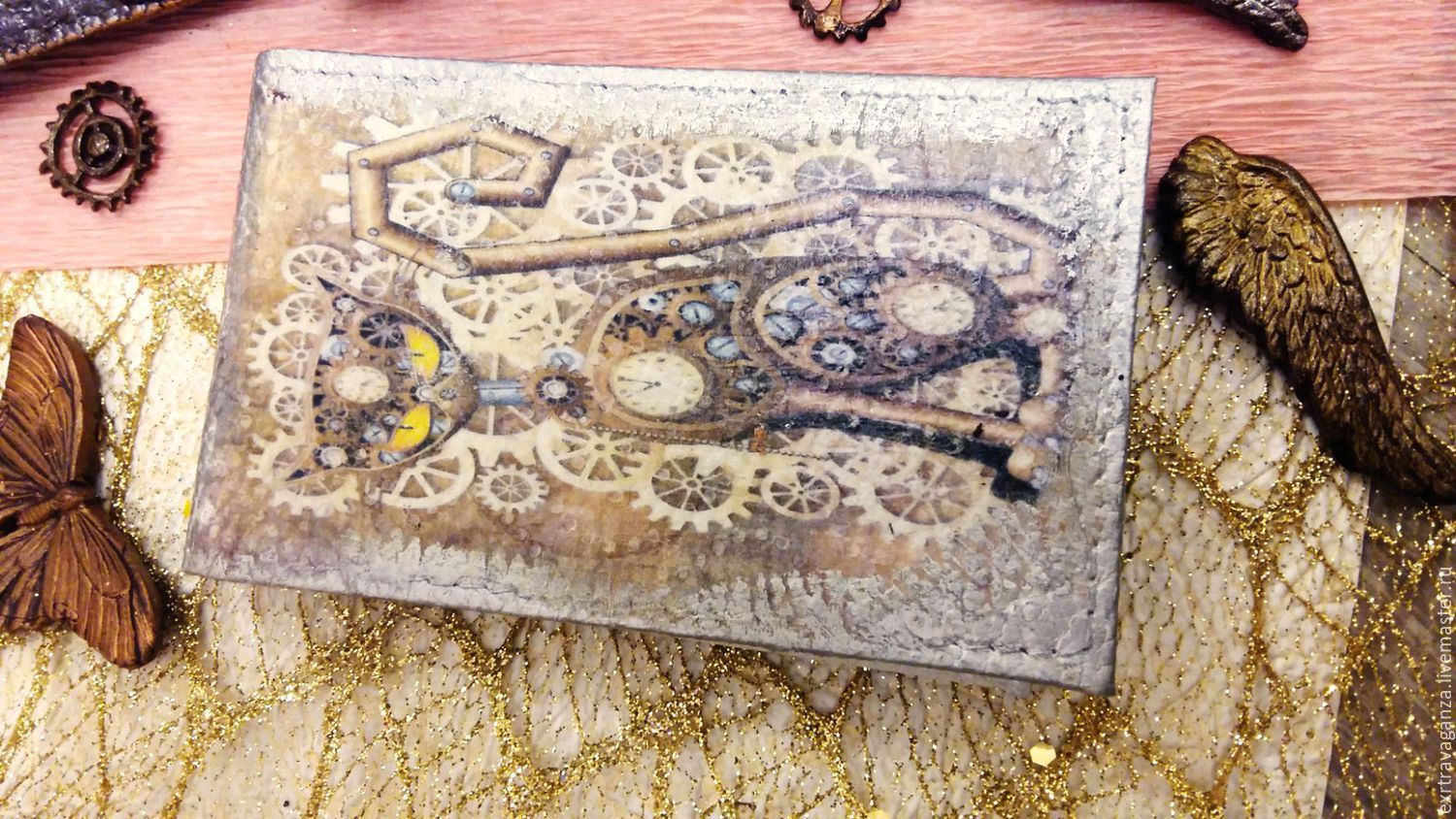 Business Card Case In Steampunk Style Shop Online On Livemaster