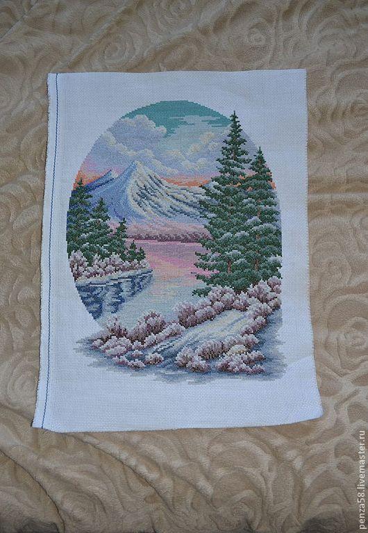 Пейзаж ручной работы. Ярмарка Мастеров - ручная работа. Купить Зимний пейзаж. Handmade. Картина для интерьера, пейзаж