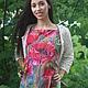 Блузки ручной работы. Батик шелковая блуза  Опиум. Стильные штучки   (Grishina Olga). Ярмарка Мастеров. Бардовый, шелковая блузка