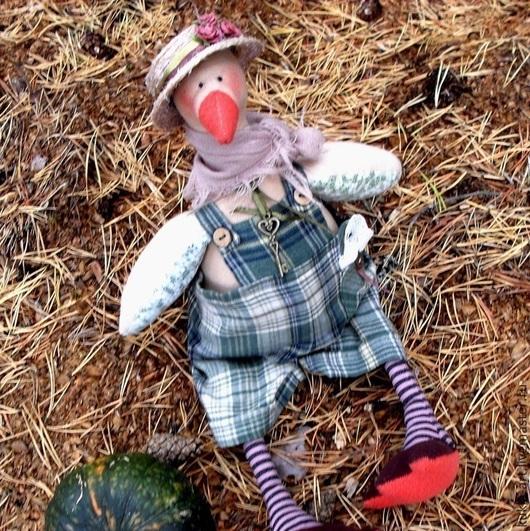 Куклы Тильды ручной работы. Ярмарка Мастеров - ручная работа. Купить Гусь в стиле Прованс. Handmade. Кукла Тильда