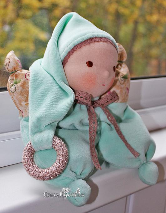 Вальдорфская игрушка ручной работы. Ярмарка Мастеров - ручная работа. Купить Вальдорфская игрушка Мятный Малыш. Handmade. Мятный, игрушка