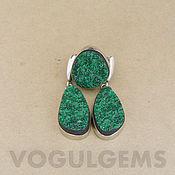 Украшения handmade. Livemaster - original item The earrings and the ring uvarovite. Earrings and ring, green garnet. Handmade.