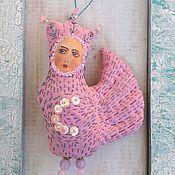 """Куклы и игрушки ручной работы. Ярмарка Мастеров - ручная работа Птица сирин - саше """"Розовая"""". Handmade."""