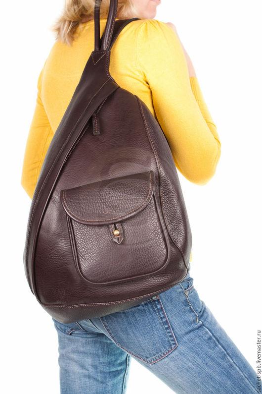 """Рюкзаки ручной работы. Ярмарка Мастеров - ручная работа. Купить Кожаный рюкзак """"Эль- Пасо"""" коричневый ( с карманом). Handmade."""