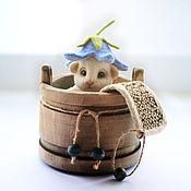 Куклы и игрушки handmade. Livemaster - original item Mouse Nafanya. fulled (felted) wool.. Handmade.