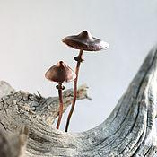 Украшения ручной работы. Ярмарка Мастеров - ручная работа Шпильки медные грибы. Handmade.