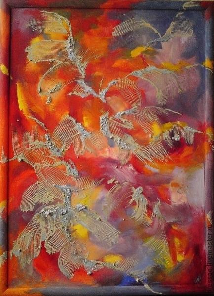 """Абстракция ручной работы. Ярмарка Мастеров - ручная работа. Купить Картина """"Случайные мысли"""". Handmade. Подарок, подарок на любой случай"""