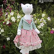 """Куклы и игрушки ручной работы. Ярмарка Мастеров - ручная работа Кошка """"В зеркальном отражении..."""". Handmade."""