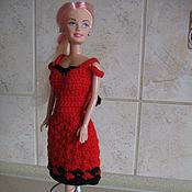 Куклы и игрушки ручной работы. Ярмарка Мастеров - ручная работа Красное платье. Handmade.