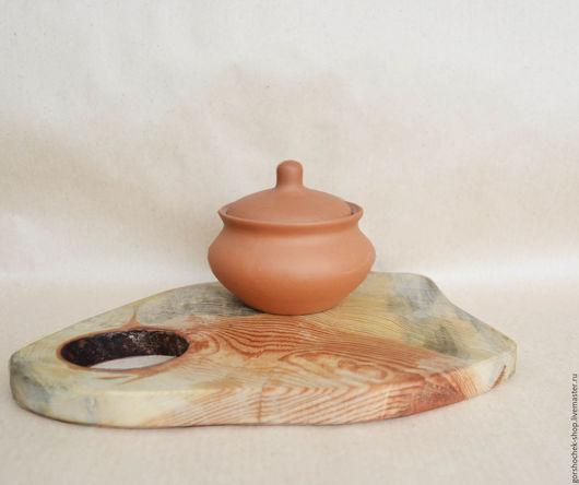 """Кухня ручной работы. Ярмарка Мастеров - ручная работа. Купить Глиняный горшочек для запекания """"Аппетитный"""" (0,5л). Handmade."""