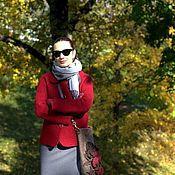 Одежда ручной работы. Ярмарка Мастеров - ручная работа Жакет Бордо. Handmade.