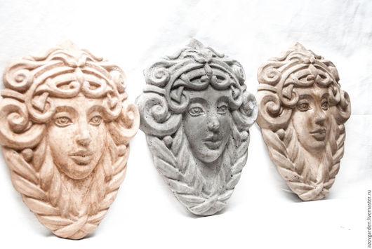 Интерьерные  маски ручной работы. Ярмарка Мастеров - ручная работа. Купить Бетонная маска, барельеф Лик Девы для декора дома и сада. Handmade.