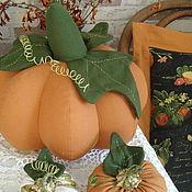 Цветы и флористика handmade. Livemaster - original item Pumpkin from fabric. Handmade.