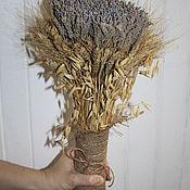 Свадебный салон ручной работы. Ярмарка Мастеров - ручная работа Большой букет лавандина с овсом и пшеницей. Handmade.