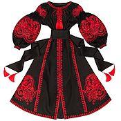 "Одежда handmade. Livemaster - original item Black dress with wedges ""Oriental Fairy Tale"". Handmade."