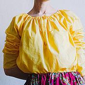 Одежда ручной работы. Ярмарка Мастеров - ручная работа Сапожковская рубашка Солнышко. Handmade.