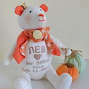 Куклы и игрушки ручной работы. Ярмарка Мастеров - ручная работа мишка_метрики Лев. Handmade.