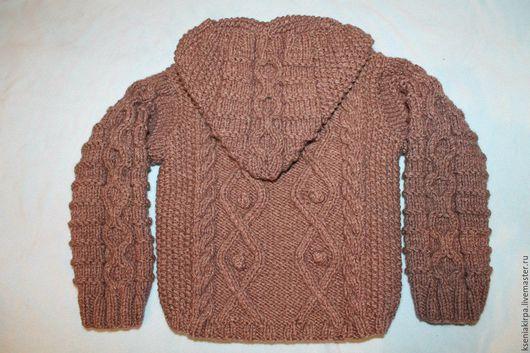 Верхняя одежда ручной работы. Ярмарка Мастеров - ручная работа. Купить Вязаное пальто кофта  для мальчика или девочки. Handmade.