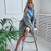 Одежда handmade. Livemaster - original item An oversized cardigan with marLED sleeves. Handmade.