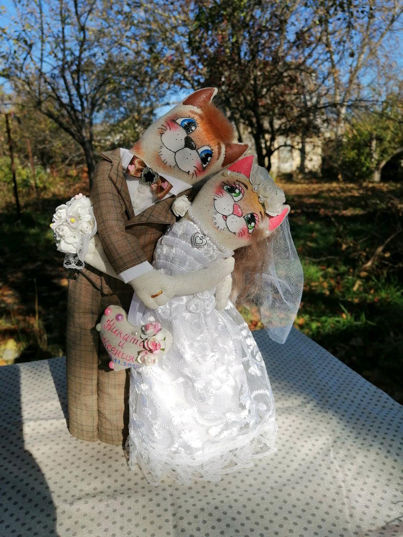 Неразлучники котики жених и невеста, Мягкие игрушки, Ставрополь,  Фото №1