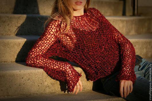 """Кофты и свитера ручной работы. Ярмарка Мастеров - ручная работа. Купить Блуза """"Сеть"""" для креативных и свободных!. Handmade. Разноцветный, женский"""