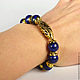 Blue bracelet with lapis stone
