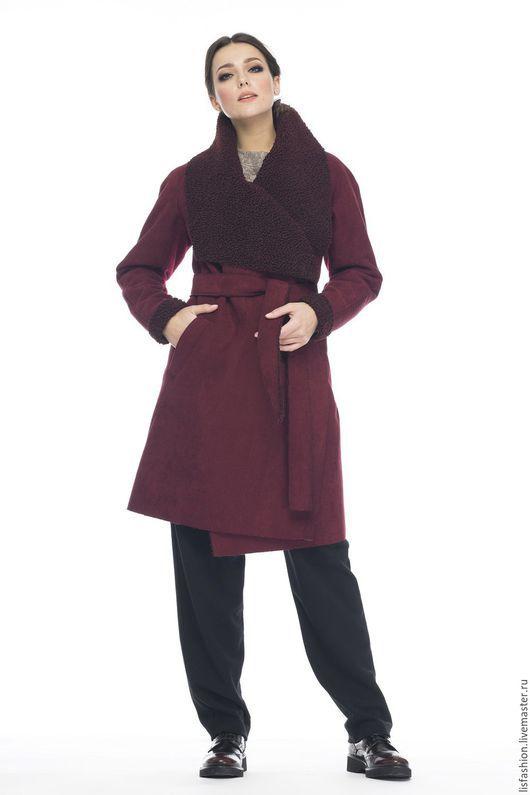Верхняя одежда ручной работы. Ярмарка Мастеров - ручная работа. Купить Дубленка 1630А. Handmade. Бордовый, дубленка для осени, стиль