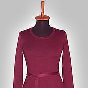 Одежда ручной работы. Ярмарка Мастеров - ручная работа Бордовое платье. Handmade.