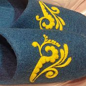 Обувь ручной работы. Ярмарка Мастеров - ручная работа Морская волна. Валяные тапочки.. Handmade.