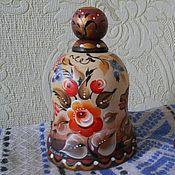 Колокольчики ручной работы. Ярмарка Мастеров - ручная работа Колокольчик деревянный расписной. Handmade.